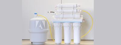 Reverse osmosis under sink system